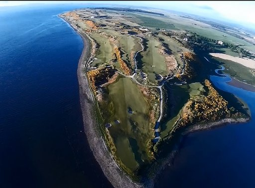 Ariel view of front 9 holes